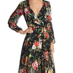 Alice + Olivia floral wrap dress Size 0